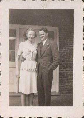 Helen Hickson with her husband