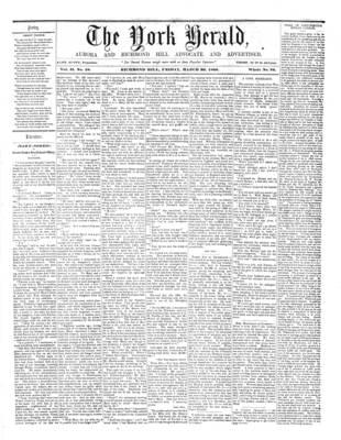 York Herald, 30 Mar 1860