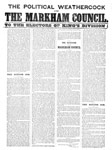 The political weathercock and the Markham council to the electors of King's division