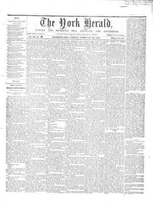 York Herald, 22 Feb 1861