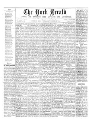 York Herald, 13 Sep 1861