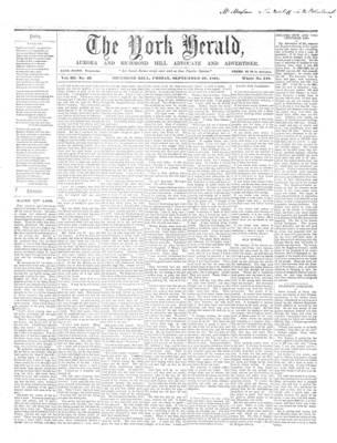 York Herald, 27 Sep 1861