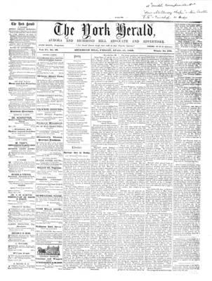York Herald, 11 Apr 1862