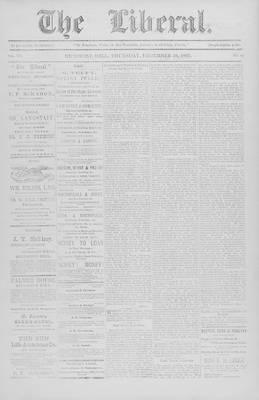 The Liberal, 16 Dec 1897