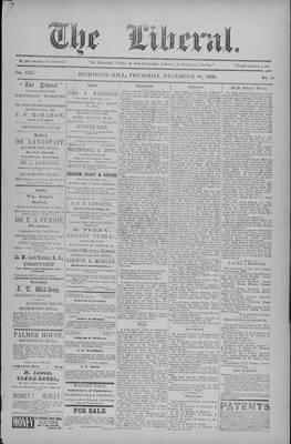 The Liberal, 28 Dec 1899