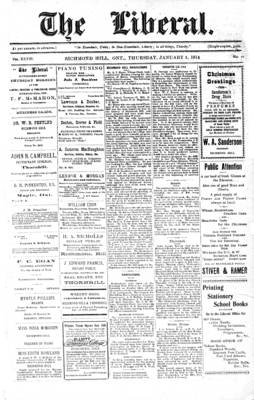 The Liberal, 1 Jan 1914