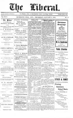 The Liberal, 8 Jan 1914
