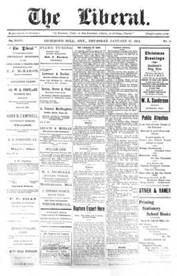 The Liberal, 15 Jan 1914
