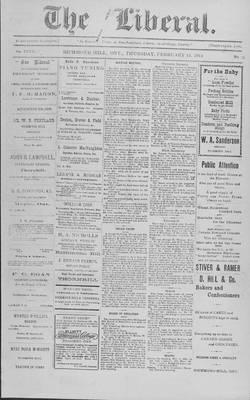 The Liberal, 12 Feb 1914