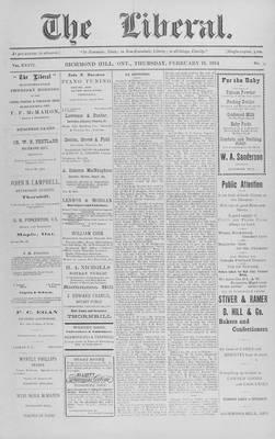 The Liberal, 19 Feb 1914