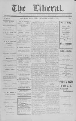 The Liberal, 12 Mar 1914