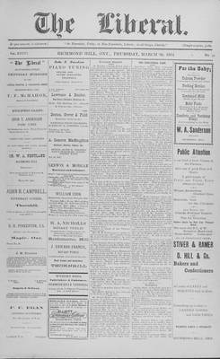 The Liberal, 26 Mar 1914