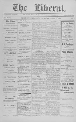 The Liberal, 2 Apr 1914