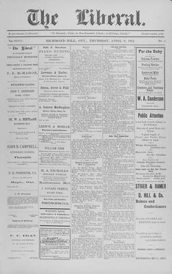 The Liberal, 9 Apr 1914