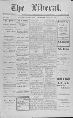The Liberal, 16 Apr 1914