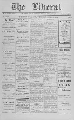 The Liberal, 23 Apr 1914