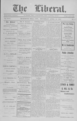 The Liberal, 30 Apr 1914