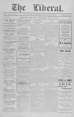 The Liberal, 23 Jul 1914