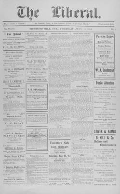 The Liberal, 30 Jul 1914