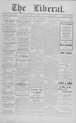 The Liberal, 6 Aug 1914