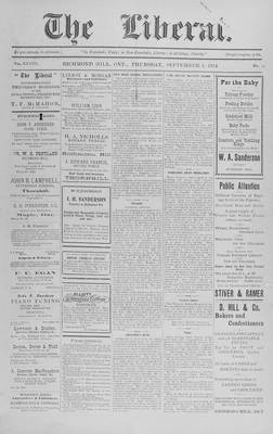 The Liberal, 3 Sep 1914