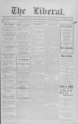 The Liberal, 1 Oct 1914
