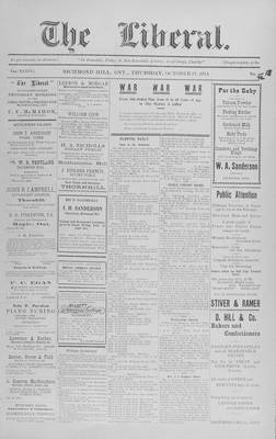 The Liberal, 22 Oct 1914