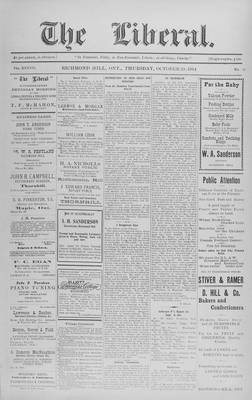 The Liberal, 29 Oct 1914