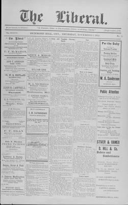The Liberal, 5 Nov 1914