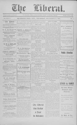 The Liberal, 24 Dec 1914