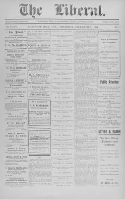 The Liberal, 31 Dec 1914