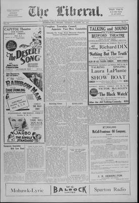 The Liberal, 3 Oct 1929