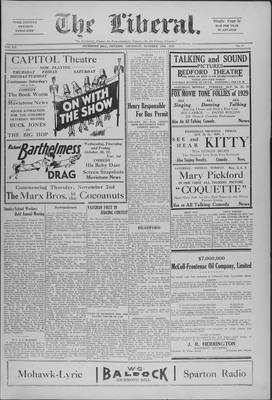 The Liberal, 24 Oct 1929
