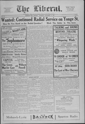 The Liberal, 14 Nov 1929