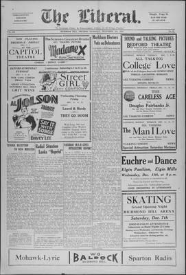 The Liberal, 5 Dec 1929