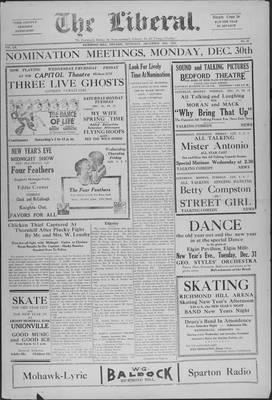 The Liberal, 26 Dec 1929