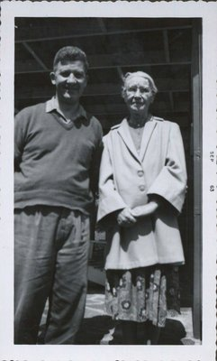 Robert Hall with his mother