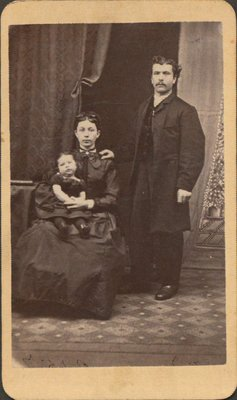 Frank Hall with his wife and first child Elizabeth