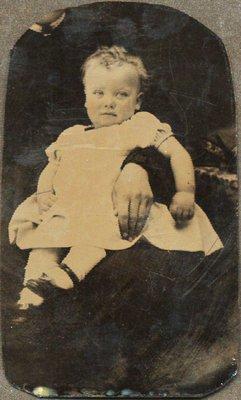 Tintype of child