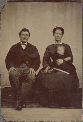 Tintype of a family