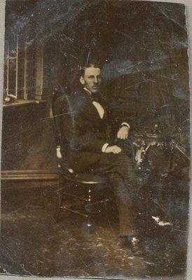 Tintype portrait of unknown man