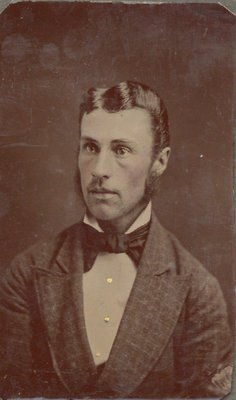 Tintype of a young man