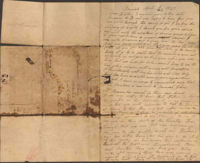 Letter of Harriet Law to Abraham Law