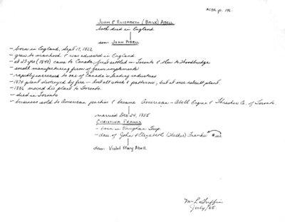 "Genealogy book: volume ""Abell-Bond"""