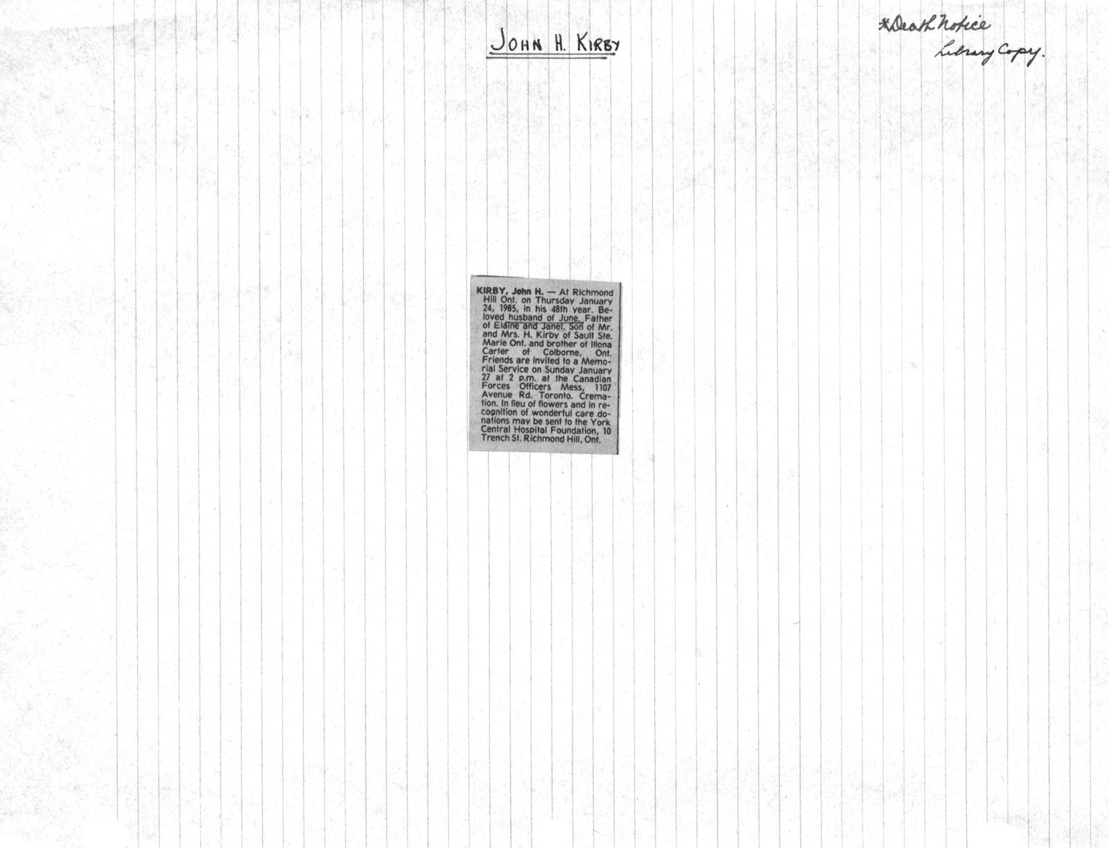 "Genealogy book: volume ""Kirby-Logan"""