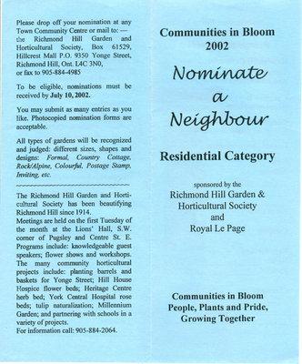 Communities in Bloom 2002