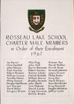 Rosseau Lake School Charter Members 1967