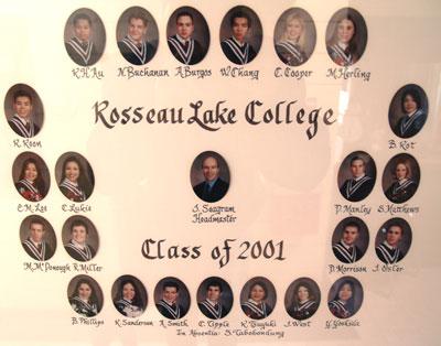 Rosseau Lake College Class of 2001