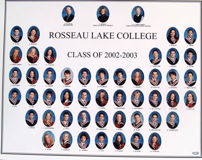 Rosseau Lake College Class of 2002-2003