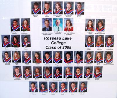 Rosseau Lake College Class of 2008